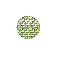 School of Sea Turtles v2sq Mini Button (10 pack)