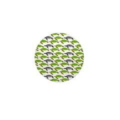 School of Sea Turtles v2sq Mini Button
