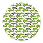 School of Sea Turtles v2sq Round Car Magnet