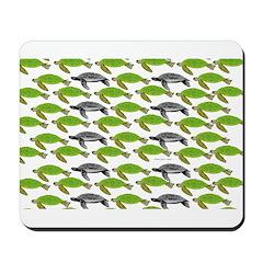 School of Sea Turtles v2sq Mousepad