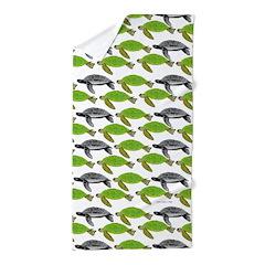 School of Sea Turtles v2sq Beach Towel