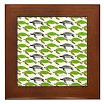 School of Sea Turtles v2sq Framed Tile