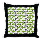 School of Sea Turtles v2sq Throw Pillow