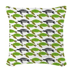 School of Sea Turtles v2sq Woven Throw Pillow