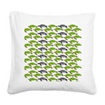 School of Sea Turtles v2sq Square Canvas Pillow