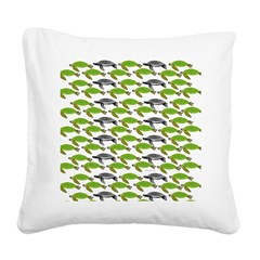 School of Sea Turtles v2sq Square Canvas Pillow