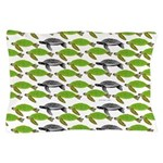 School of Sea Turtles v2sq Pillow Case