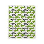 School of Sea Turtles v2sq Throw Blanket