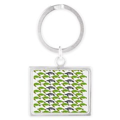 School of Sea Turtles v2sq Keychains