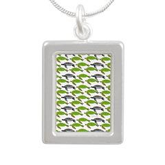 School of Sea Turtles v2sq Necklaces