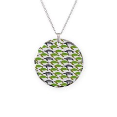 School of Sea Turtles v2sq Necklace