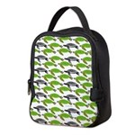 School of Sea Turtles v2sq Neoprene Lunch Bag