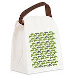 School of Sea Turtles v2sq Canvas Lunch Bag
