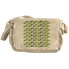 School of Sea Turtles v2sq Messenger Bag