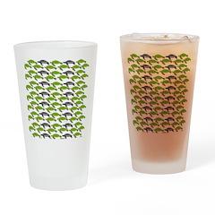 School of Sea Turtles v2sq Drinking Glass