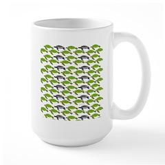 School of Sea Turtles v2sq Mugs