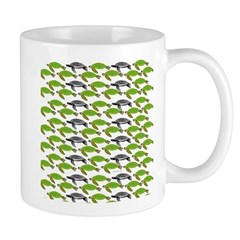 School of Sea Turtles v2sq Mugs
