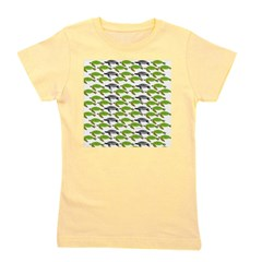 School of Sea Turtles v2sq Girl's Tee