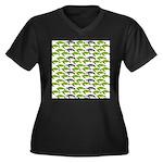 School of Sea Turtles v2sq Plus Size T-Shirt