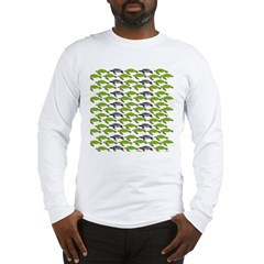 School of Sea Turtles v2sq Long Sleeve T-Shirt