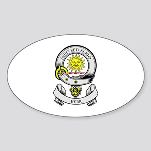 KERR 2 Coat of Arms Oval Sticker