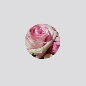 Personalized Rose Mini Button