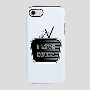I Love Retro TV iPhone 7 Tough Case