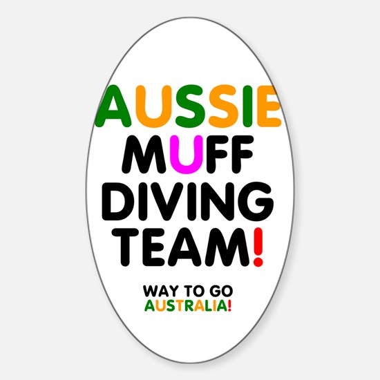 Aussie Muff Diving Team - Way To Go Decal