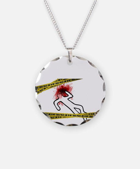 Chalk Outline Crime Scene Necklace