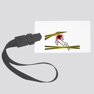 Chalk Outline Crime Scene Luggage Tag