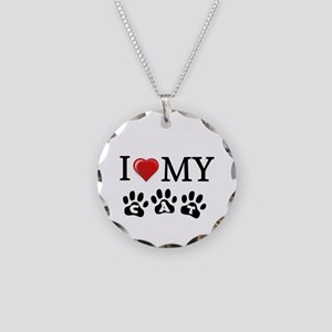I Love My Cat gift Necklace