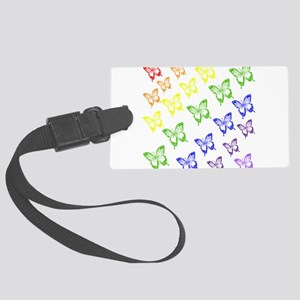 rainbow butterflies Luggage Tag