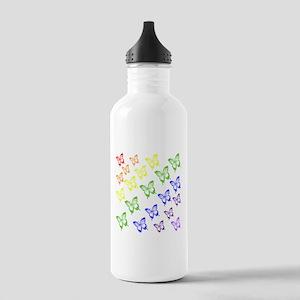 rainbow butterflies Water Bottle