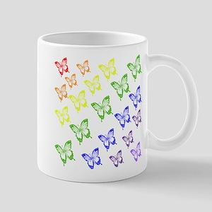 rainbow butterflies Mugs