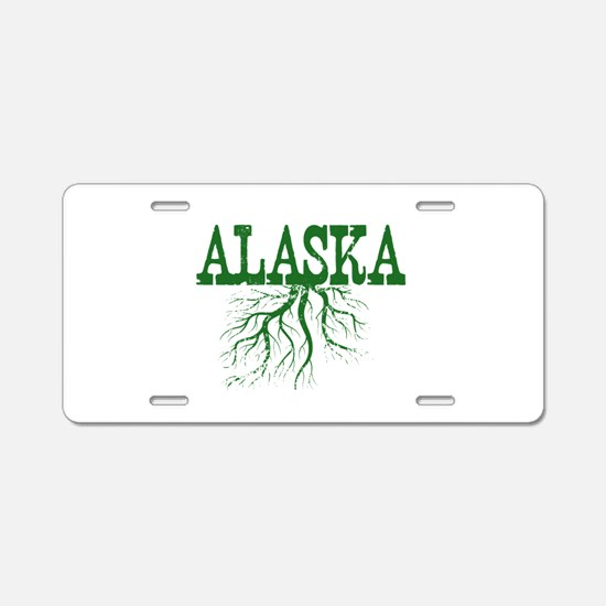 Alaska Roots Aluminum License Plate
