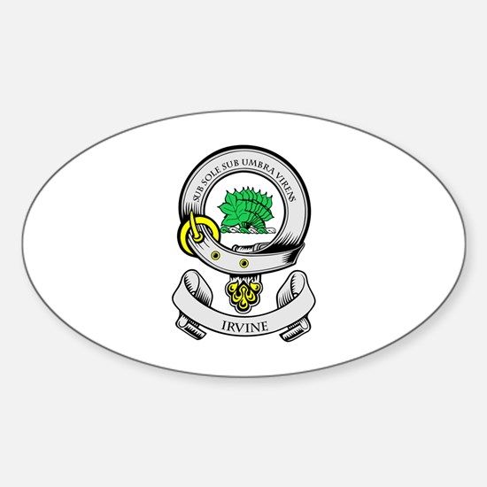 IRVINE Coat of Arms Oval Decal