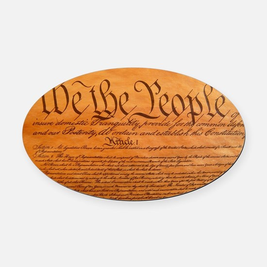 US Constitution Oval Car Magnet