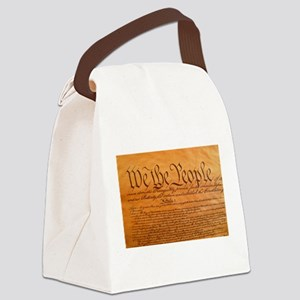 US Constitution Canvas Lunch Bag