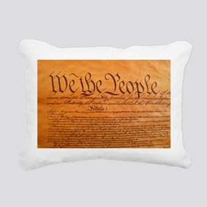 US Constitution Rectangular Canvas Pillow
