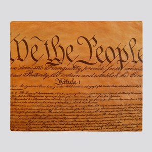US Constitution Throw Blanket