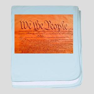 US Constitution baby blanket