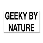 Geeky By Nature Rectangle Car Magnet