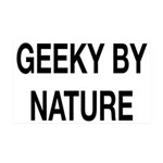 Geeky By Nature 35x21 Wall Decal