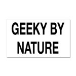 Geeky By Nature Car Magnet 20 x 12