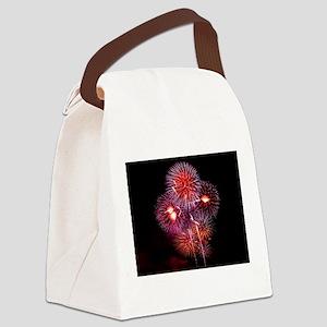 Fireworks Canvas Lunch Bag