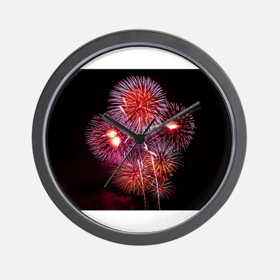 Fireworks Wall Clock