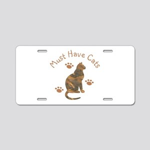 Must Have Cats 111 Aluminum License Plate