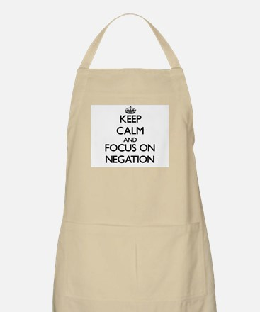 Keep Calm and focus on Negation Apron