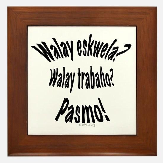 Walay Eskwela Styled Framed Tile