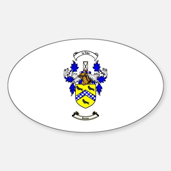 HUSTON Coat of Arms Oval Decal